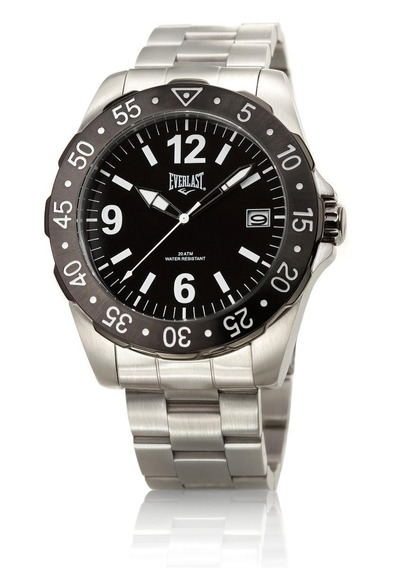 Relógio Pulso Everlast Caixa E Pulseira Aço E267 Masculino