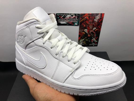 Air Jordan 1 Mid White Blanco Envio Inmediato (30 Mex)