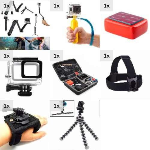 Kit Acessorios Gopro Hero 3 4 5 6 Black Session Pta Entrega