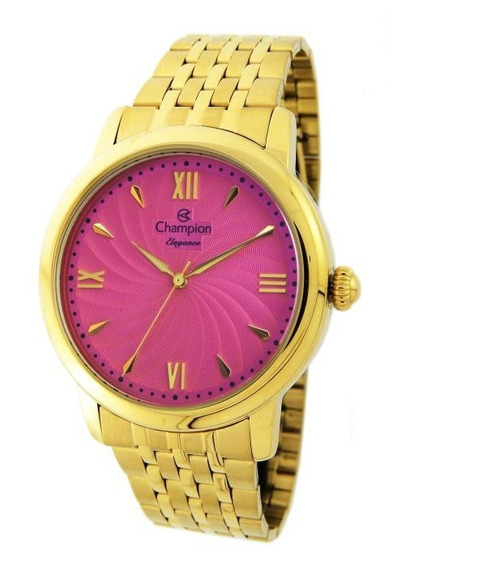 Relógio Champion Feminino Cn27787l Dourado