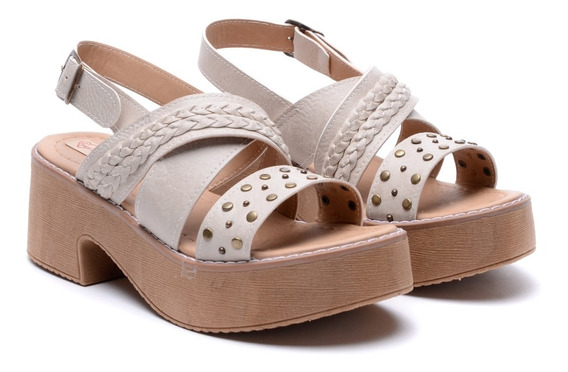 Sandalias Mujer Zapatos Plataforma Baja Media Goma Verano Heben Calzados