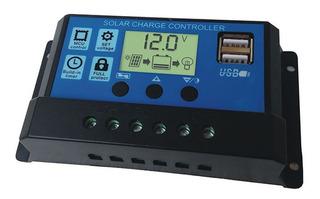 Controlador Regulador De Carga Solar Pwm 10 Amps 12/24v