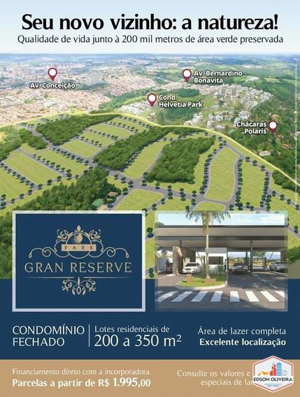 Condomínio Gran Reserve Indaiatuba - Lotes De 200 A 350 M² - 170