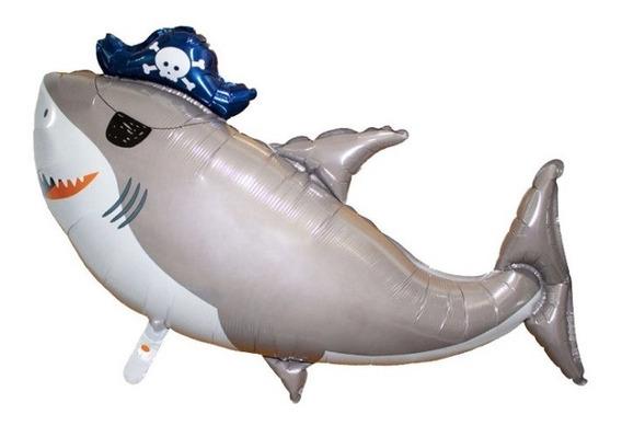 Globo Metálico De Tiburón 4 Pack