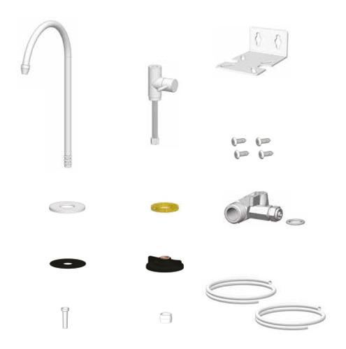 Imagen 1 de 1 de Kit De Conversión Para Filtro Purificador De Agua Sobre Mesada A Bajo Mesada | Grifería + Conector + Llave + Tubería