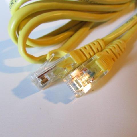 01 Cabo De Rede 2 Metros Rj45 Ethernet Rj-45 Amarelo/azul