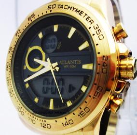 Relogio Atlantis Goldman Original Com Caixa Com Manual