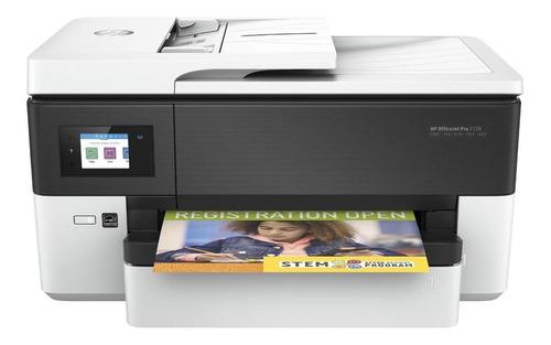 Impressora a cor HP OfficeJet Pro 7720 com wifi branca e preta 110V/220V