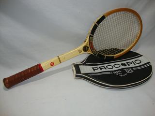 Antiga Raquete Tenis Madeira Procopio Davis Cup Década De 70
