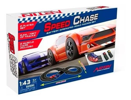 Pista De Autos Speed Chase De 47cm X 97cm