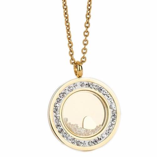 Cadena Mujer Medallón En Acero 316l Con Baño Oro Collar
