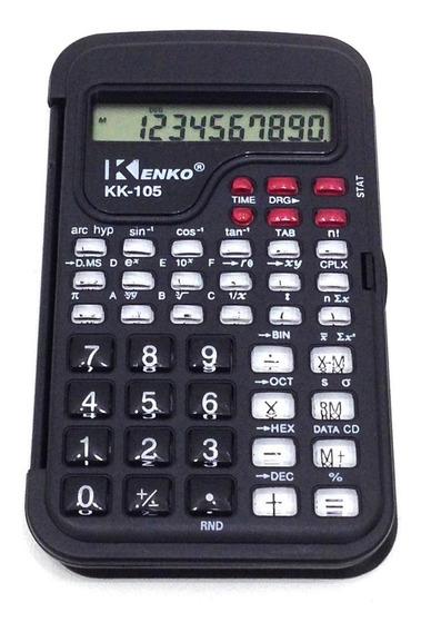 Calculadora Cientifica Kenko Colorida C/tampa E Hora 105bm