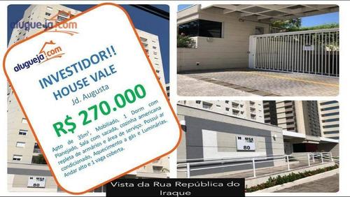 Apartamento Com 1 Dormitório À Venda, 34 M² Por R$ 270.000 - Jardim Augusta - São José Dos Campos/sp - Ap12842