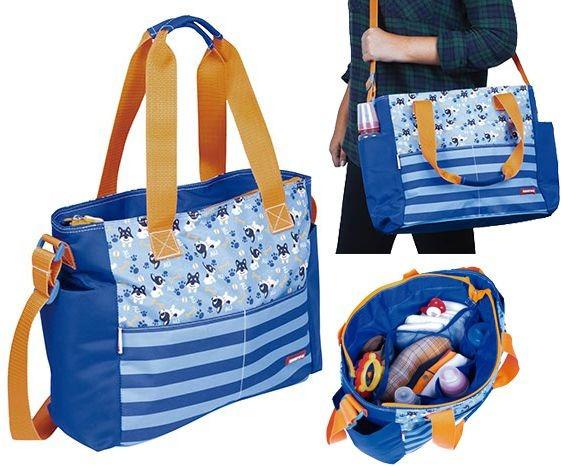 Bolsa Mala Azul Reforçada Maternidade Estampada Menino
