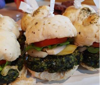 Minihamburguesas Vegetarianas. Lunch, Catering Saludable