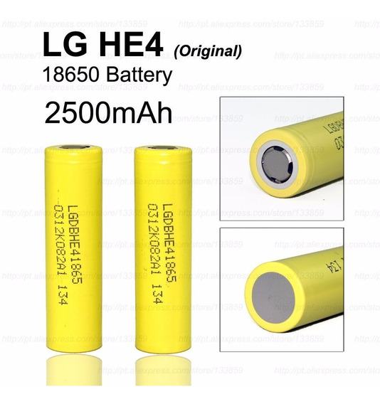 2x Bateria Lg 18650 He4 Imr2500mah 20/35a 3.7v High Drain
