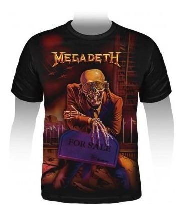Camiseta Premium Megadeth Peace Sells