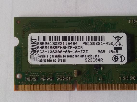 Memória Ram Smart 2gb 1rx8 Ddr3 Pc3-10600s-09-10-zzz 2324