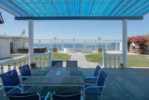 Hermosa Casa Por La Playa En El Sauzal, Ensenada, B.c.