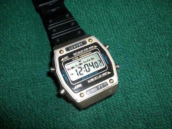 Luxury Reloj Digital Vintage Metalico Alarma