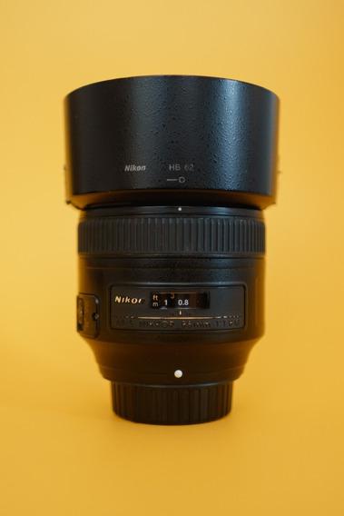Lente Nikon 85mm F/1.8g Em Excelente Estado - Usada