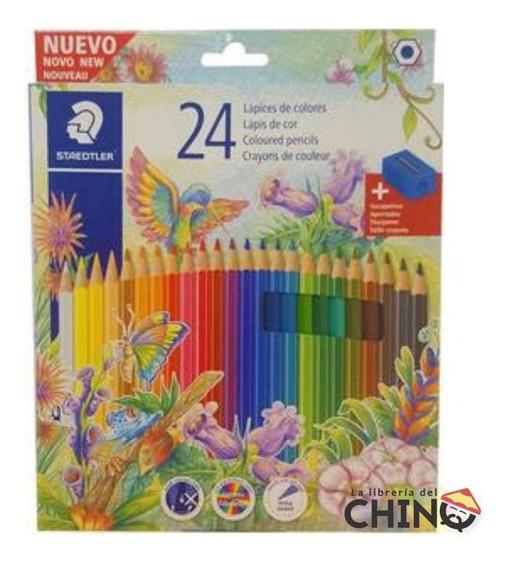 Lapices De Color Pinturitas Staedtler Largas X 24 - Rosario