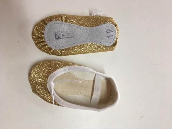 Sapatilha De Ballet Com Glitter -