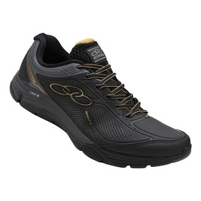 Tenis Olimpkus Caminhada Confortavel Blackgold Running