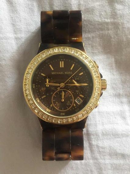 Relógio Michael Kors - Tartaruga Dourado - Original