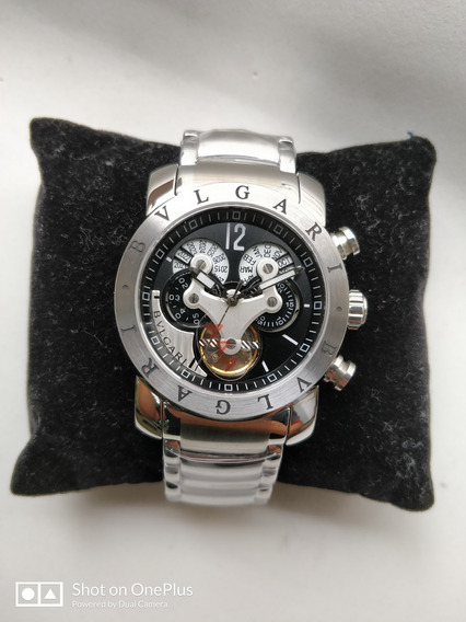 Relógio Masculino Bv Hybrid Silver Automatico Prata Em Aço