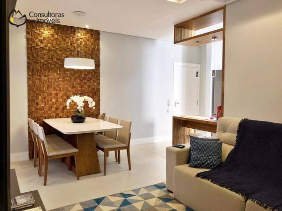 Apartamento Com 3 Dormitórios À Venda, 76 M² Por R$ 580.000,00 - Residencial Mais Jardins De Paulínia - Paulínia/sp - Ap0326