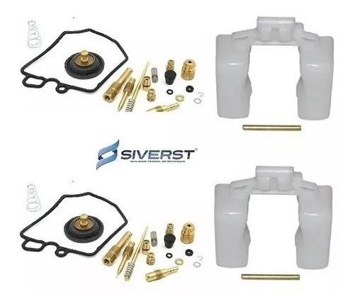 2 Reparo Carburador Completo Cb 400 + 2 Boias Siverst Cb 400