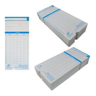 Cartão Para Relógio De Ponto Modelo Vega Novo 100 Unidades *