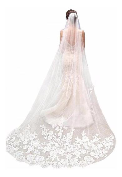 Veu De Noiva Mantilha Longo 2.3metro Vestido Noiva Casamento