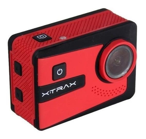 Filmadora Ação Xtrax Smart2 4k + 20 Acessórios Estilo Go Pro