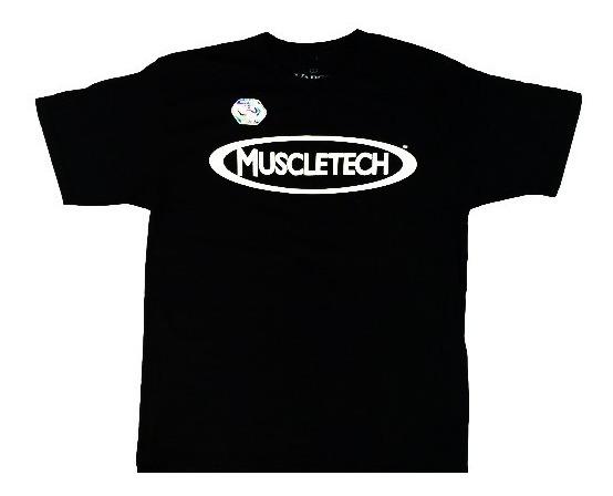 Remera Vapor Muscletech Iconic Logo Original 100% Algodon