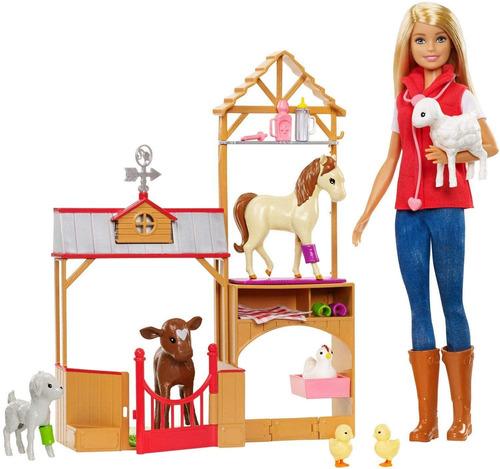 Barbie Gck86 Sweet Orchard Farm Blonde - Muñeca Y Set De Ju