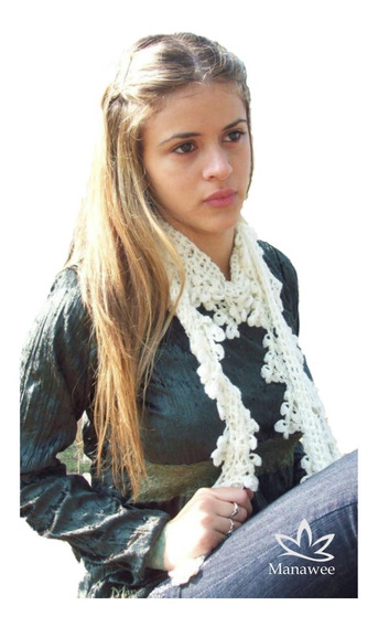 Bufanda Manawee Mujer Tejida Al Crochet Calada