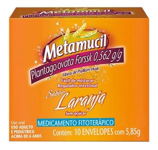 Metamucil Pó Fibra C/10 Env Regulador Intestinal Laxante