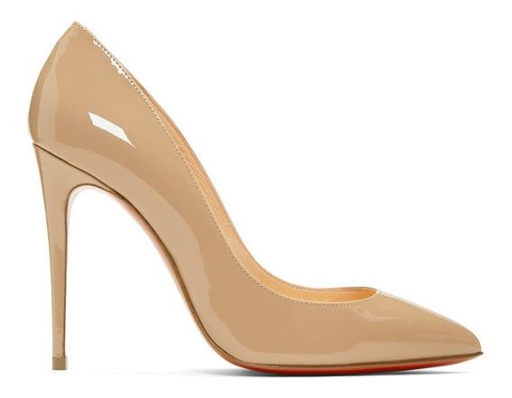 Sapato Feminino Christian Loubotin Pigalle Follies - Nude