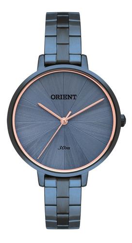 Relógio Orient Feminino Ftss0095 D1dx Azul Rose Oferta