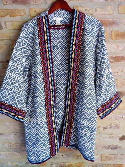 Saco Kimono H Y M Bordado - Talle L