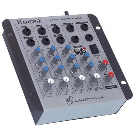 Mesa De Som Mixer Nanomix Ll Na402r 4 Canais.