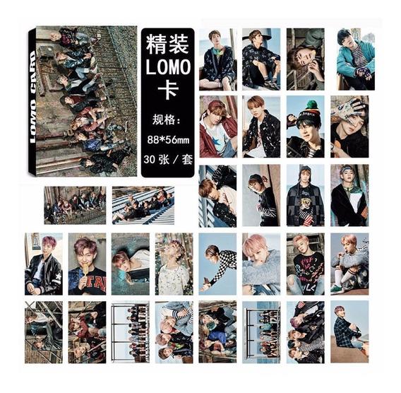 Caja 30 Tarjetas Bts Kpop Coreano Lomo Cards Wings Grupal