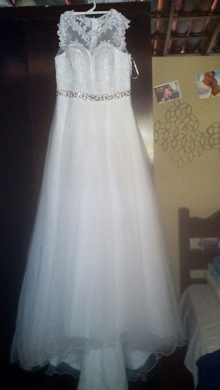 Vestido De Noiva Com Semi Calda