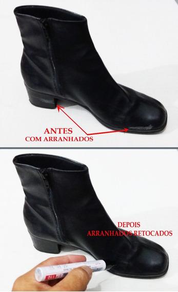 Caneta Preta Para Retoque Em Riscos De Sapatos-tenis-botas