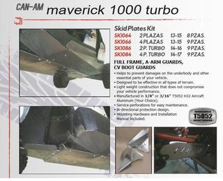 Skid Plate1/8 Kit 9 Pzas Can-am Maverick 1000/turbo 2013-17