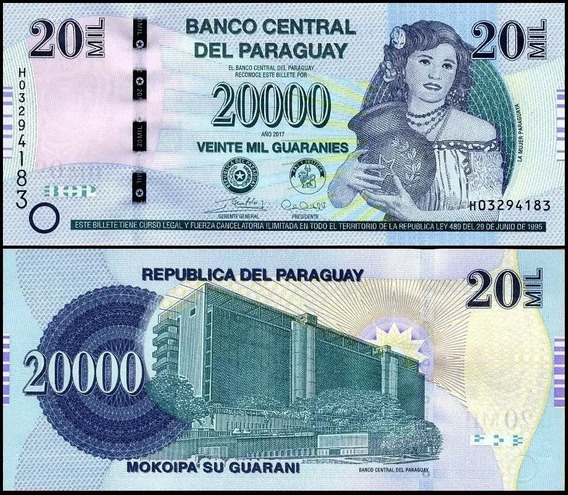 Paraguay Paraguai P-new Fe 20.000 Guaranies 2017 H * C O L *