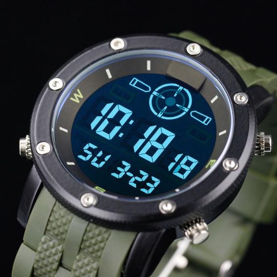 Relógio Infantry Quartz Dig Lcd Data Alarme Cronômetro Sport