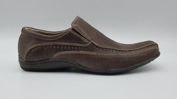 Zapato Hombre Cuero Marron Art 2057